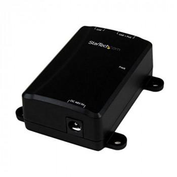 StarTech.com POEINJ1GW 1 Port Gigabit Midspan PoE+ Injector - Black