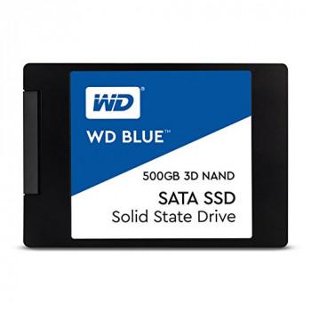 Western Digital WDS500G2B0A WD Blue 500 GB 3D NAND SATA Internal Solid State Drive - Black