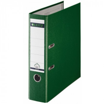 Leitz 180 Degrees Plastic Lever Arch File A4 80 mm  - Green, Pack of 10
