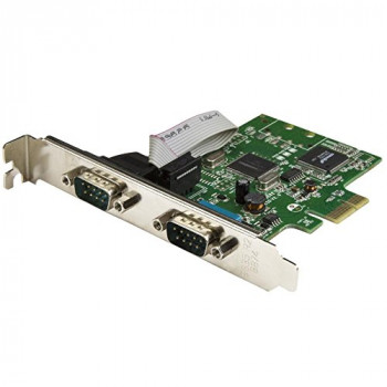 StarTech.com PCI Express Serial Card – 2 port – Dual Channel 16C1050 UART – Serial Port PCI Card – Serial Expansion Card
