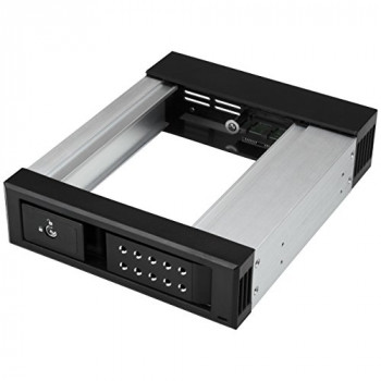 StarTech.com 5.25 to 3.5 Hard Drive Hot Swap Bay, Aluminium, Trayless, Vented, Front Mount, 5.25 Hard Drive Bay, Hard Drive Backplane