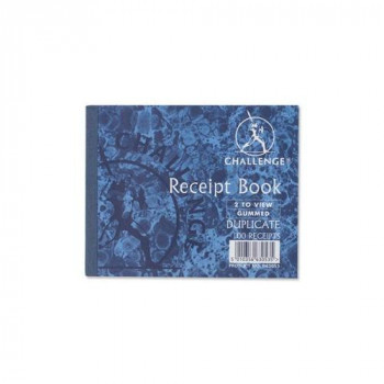 Challenge Duplicate Book Gummed Sheets with Carbon Receipt 2-to-View 105x130mm Ref D63053 [Pack of 5]