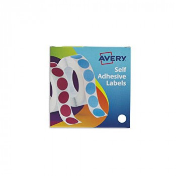 Avery 24-404 Self Adhesive Circle Labels Dispenser (19 mm Dia, 1120 Labels) - White