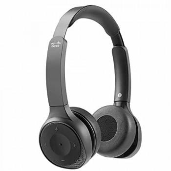 Cisco - IP TELEPHONY 730 WIRELESS DUALON-EAR HEADSED USB-A BUNDLE - CARBON BLACK IN
