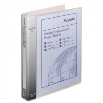 Snopake 13386S Presentation Ringbinder A4 4D/25mm Clear