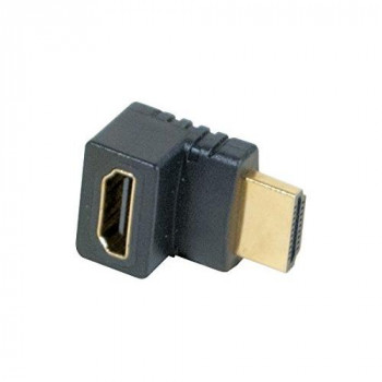 Connect Angled 90 Degree Model B HDMI Male/Female Adapter - Gold