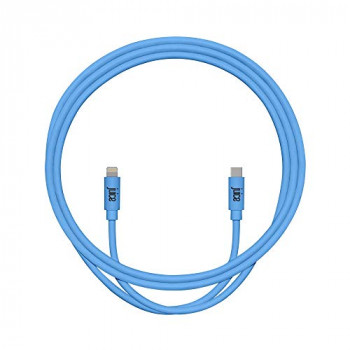 Juice Apple iPhone 11, Pro, iPhone X, Xr, iPhone 8, 7, 6, SE, iPad Lightning and USB Type C Charge and Sync Cable, 1M, Blue, JUI-CABLE-LIGHT-TYPEC-1M-RND-XRBLU