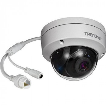 TRENDnet Indoor/Outdoor 2 MP H.265 WDR PoE IR Dome Network Camera, Night Vision up to 30M (98ft.), 1080p, IP67 Weatherproof Housing, TV-IP327PI