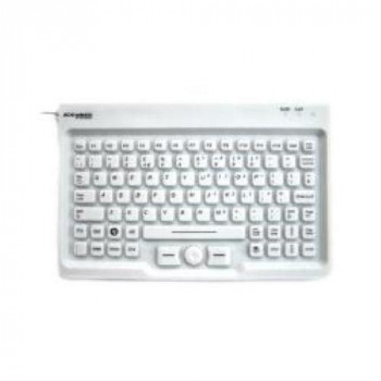 Accuratus AccuMed Nanoarmour Mini Keyboard with Mousepad - White