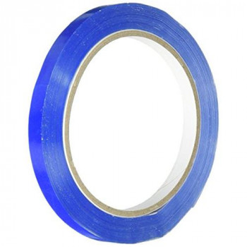 LSM 221507 9 mm x 66 m PVC Bag Neck Tape - Blue (Pack of 6)