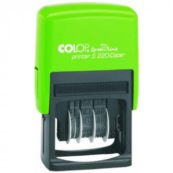 Colop S220 Green Line Date Stamp 12 Years Self-Inking Imprint 22x45mm Black Ref 15520050