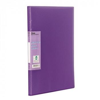 Pentel DCF343V - Recycology Display Book Vivid 30 Pockets A4 Viol DCF343V