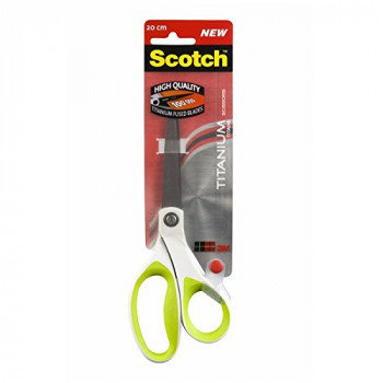 Scotch 20 cm Titanium Scissors - White/Green