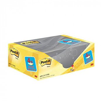 """Post-it 76 x 127 mm """"Value Pack"""" Notes - Canary Yellow (Pack of 20)"""