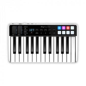 Multimedia iRig Keys I/O 25 Universal Mobile Keyboard with Lightning Connector,Black/White
