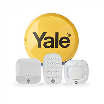 Yale IA-310 Sync Smart Home Security Alarm, 4 Piece Kit, Self Monitored, No Contract, Wireless, 200m Range, Featuring Window, Door And Movement PIR Sensors, External & Internal Siren, Works With Alexa