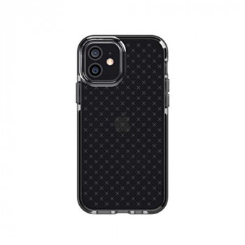 tech21 Evo Check for Apple iPhone 12 and 12 Pro 5G - Germ Fighting Antimicrobial Phone Case with 12 ft. Drop Protection, Black - 6.1 inches