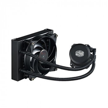 Cooler Master MasterLiquid Lite 120 CPU Liquid Cooler '120mm Radiator , 1x MasterFan Pro 120 AB PWM Fan, White LED' MLW-D12M-A20PW-R1