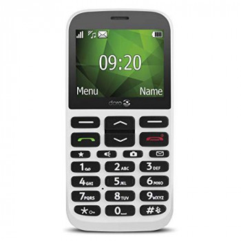 Doro 1370 Unlocked 2G Easy-to-Use Mobile Phone for Seniors with Wide Colour Display, 3 MP Camera and SOS Button (White)