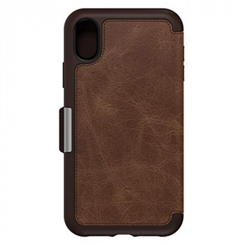 OtterBox (77-59923) STRADA SERIES FOLIO, Bold Sophistication. Drop proof style for iPhone XR - ESPRESSO