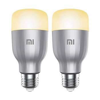 Xiaomi Mi LED Wi-Fi Enabled Smart Bulb E27 White & Colour, 10 W - 2 Pack