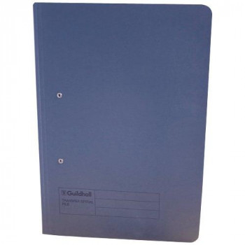 Guildhall 285 gsm Foolscap Spiral File - Blue (Pack of 25)