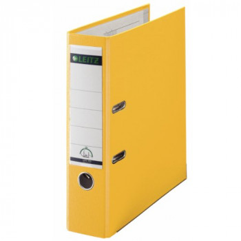 Leitz 180Deg Plastic Lever Arch File A4 80 mm (Yellow) - Pack of 10