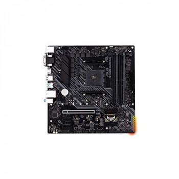 ASUS TUF Gaming A520M-Plus AMD A520 (Ryzen AM4) micro ATX motherboard with M.2 support, 1 Gb Ethernet, HDMI/DVI/D-Sub, SATA 6 Gbps, USB 3.2 Gen 2 Type-A, and Aura Sync RGB lighting support