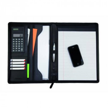 Monolith Conference Folder with A4 Pad and Calculator - Black