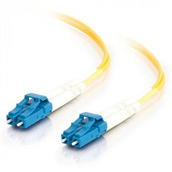 C2G 1m LC-LC 9/125 OS1 Duplex Singlemode PVC Fibre Optic Cable (LSZH) - Yellow