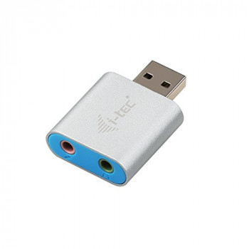 i-tec USB 2.0 Metal Mini Audio Adapter