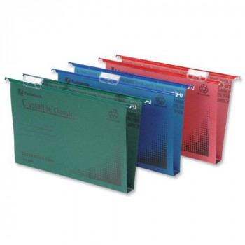 Rexel Crystalfile Classic Foolscap Suspension File 30 mm - Pack of 50, Green