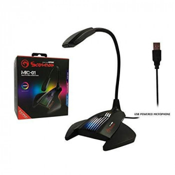 Marvo Scorpion MIC-01 Flexible USB Notebook PC Table Microphone Microphone Sound Receiver RGB 1.5 m Cable