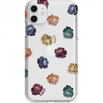 "Coach - Dreamy Peony Protective Case for Apple iPhone 11 Pro - Clear/Rainbow/Glitter (Clear/Rainbow/Glitter, iPhone 11 Pro 5.8"")"