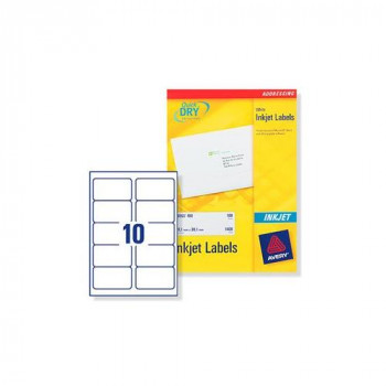 Avery J8173-100 Address Labels for Inkjet Printers (99.1 x 57.0 mm Labels, 10 Labels per A4 Sheet, 100 Sheets)