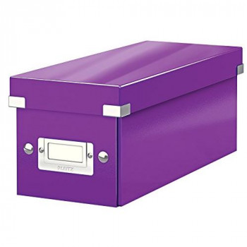 Leitz CD Storage Box, Purple, Click and Store Range, 60410062