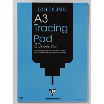 Clairefontaine Goldline Popular Tracing Pad, A3, 63 gsm, 50 Sheets