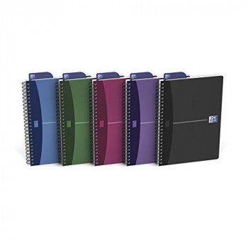 Oxford Office A5 Metallics Wirebound Poly Cover Notebook (Pack of 5)