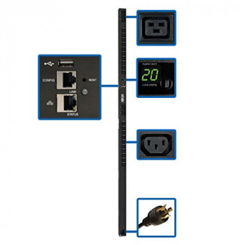 Tripp Lite Single-Phase Switched PDU with LX Platform Interface 200-240V Outlets (20 C13 4 C19)