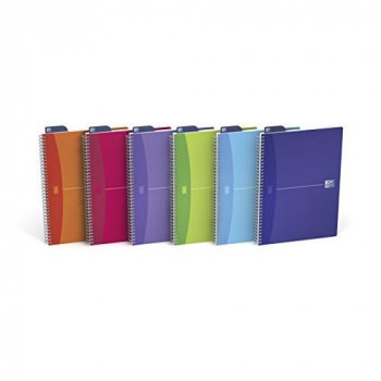 Oxford Office A4 Transluscents Wirebound Poly Cover Notebook (Pack of 5)