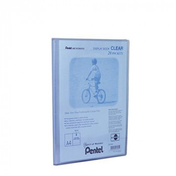 Pentel A4 Recycology Display Book with 20 Clear Pocket - Blue