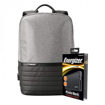 Energizer EPB001 Laptop Charging Bag with UE10004 Power Bank - Grey