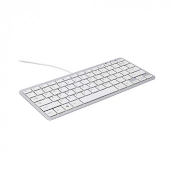R-Go Compact Keyboard, AZERTY (BE), white, wired