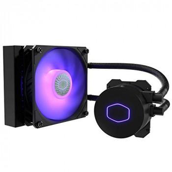 Cooler Master MasterLiquid ML120L V2 RGB CPU Liquid Cooler - Brighter Lighting Effects, 3rd Gen. Pump, Superior Radiator and Advanced 120 mm SickleFlow Fan,MLW-D12M-A18PC-R2,Black