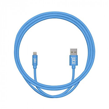 Juice Apple iPhone 11/Pro iPhone X/Xr iPhone 8/7/6 SE iPad Lightning Charge & Sync Cable, 1M, Aqua