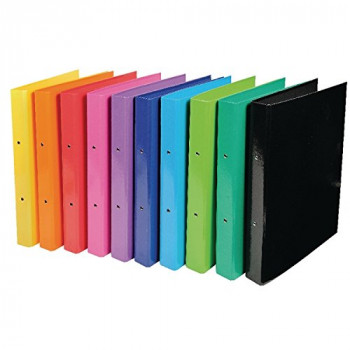 Iderama Ring A4 Binder 2 Ring 30mm Assorted [Pack of 10]