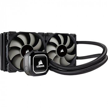 Corsair Hydro H100X 240mm Liquid CPU Cooler 2 x 12cm PWM Fans LED Pump Head