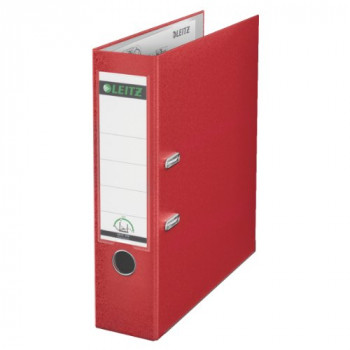 Leitz 180 A4 Plastic Lever Arch File 80 mm (Red) Pack of 10