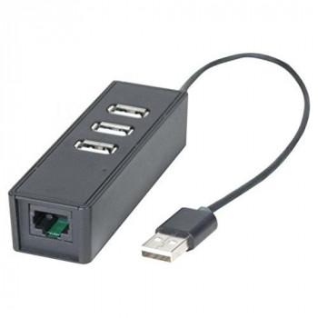 Connect Dexlan USB to LAN with 3 Port USB 2.0 Hub