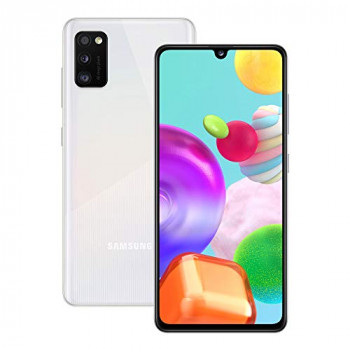 Samsung Galaxy A41 Mobile Phone; Sim Free Smartphone - Prism Crush White (UK Version)